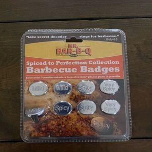 Mr. Bar-B-Q Barbecue Labels Badges 8-piece Set NWT